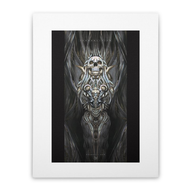 TEKNOBLIVION III - Psyko Edition Home Stretched Canvas by HEXAD - Art and Apparel