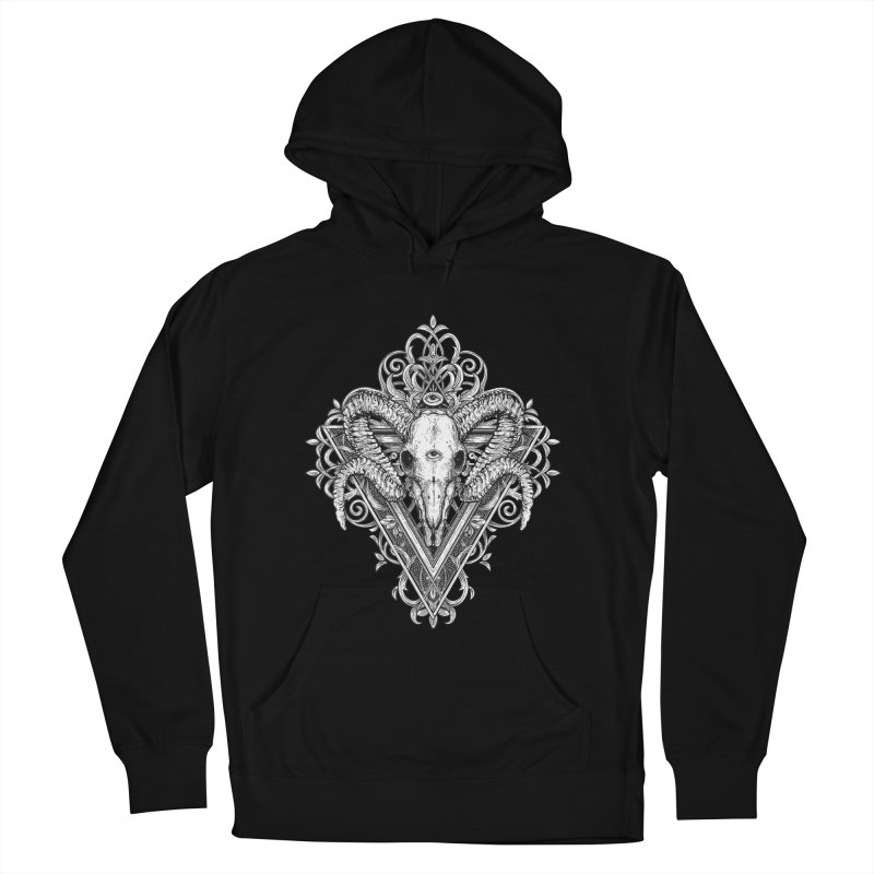 Ram Skull One Women's Pullover Hoody by HEXAD - Art and Apparel