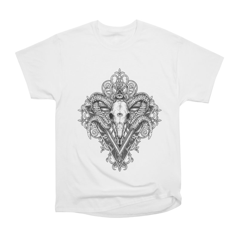 Ram Skull One Women's Heavyweight Unisex T-Shirt by HEXAD - Art and Apparel