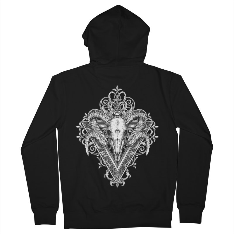Ram Skull One Women's Zip-Up Hoody by HEXAD - Art and Apparel