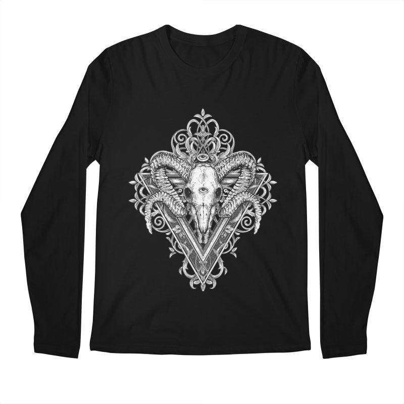 Ram Skull One Men's Longsleeve T-Shirt by HEXAD - Art and Apparel