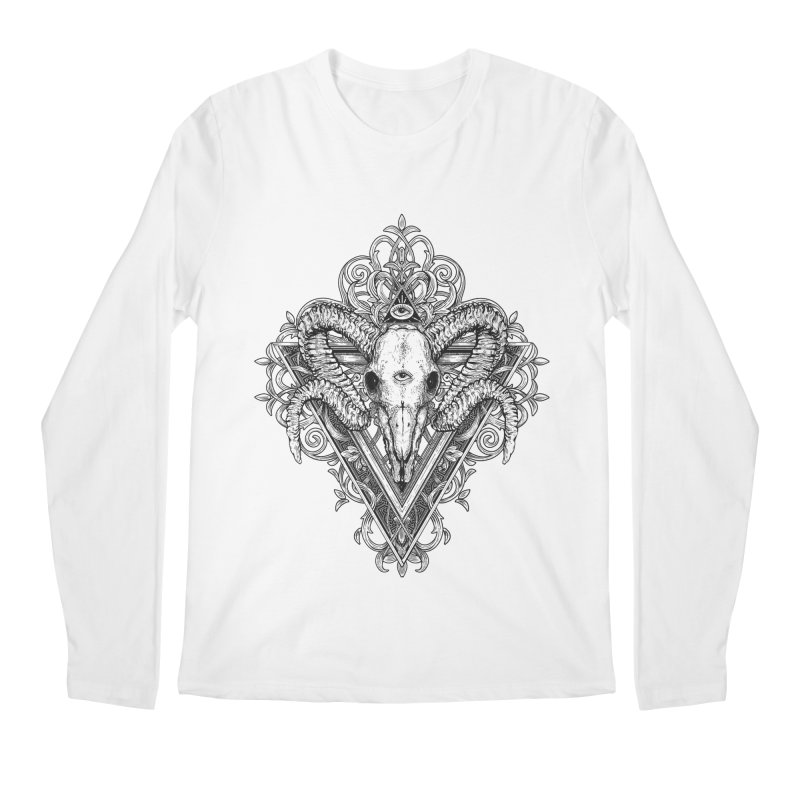 Ram Skull One Men's Regular Longsleeve T-Shirt by HEXAD - Art and Apparel