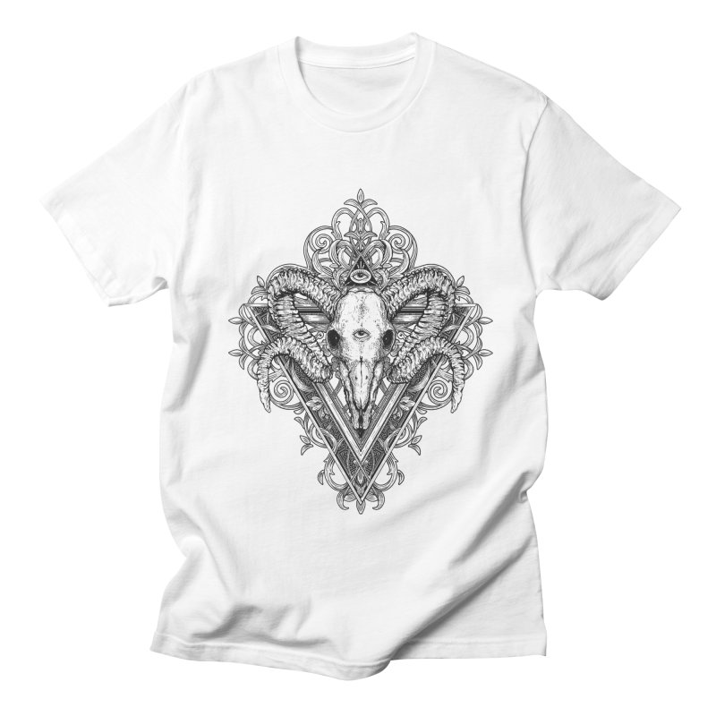 Ram Skull One Men's Regular T-Shirt by HEXAD - Art and Apparel
