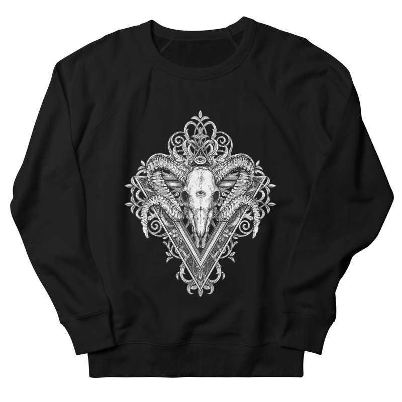 Ram Skull One Women's French Terry Sweatshirt by HEXAD - Art and Apparel