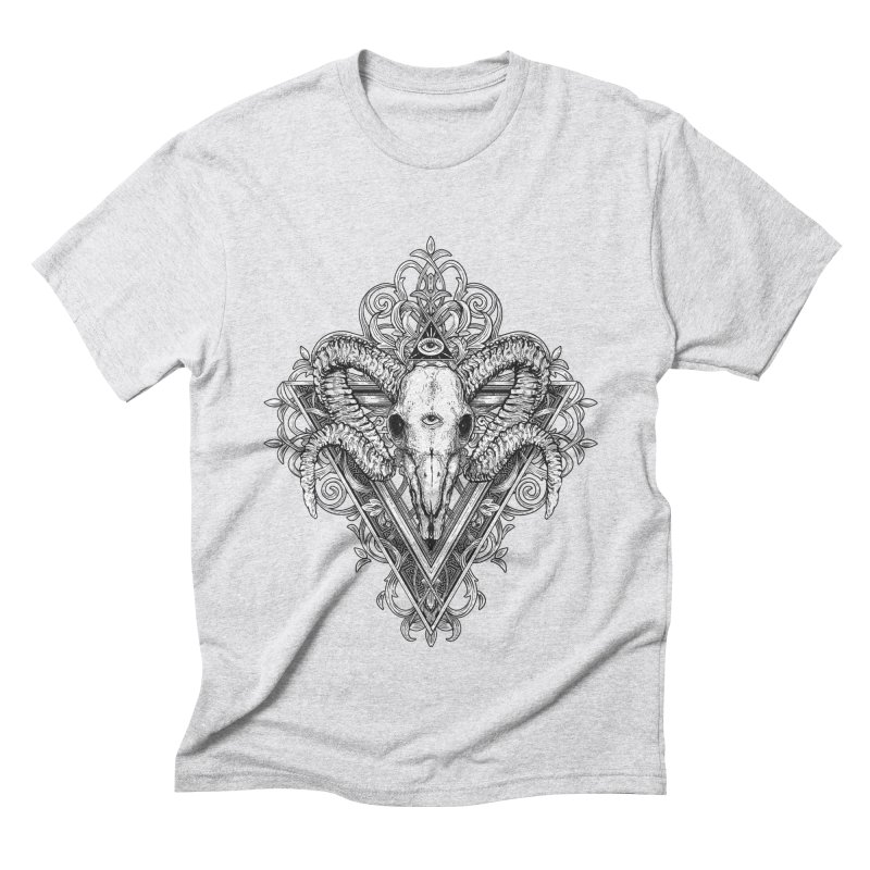 Ram Skull One Men's T-Shirt by HEXAD - Art and Apparel