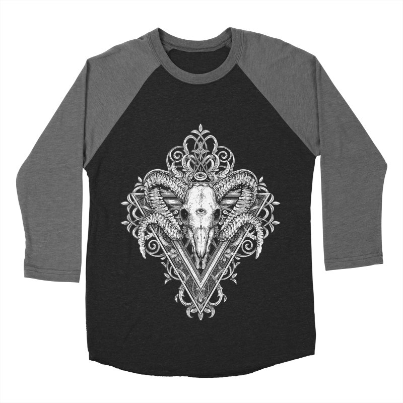 Ram Skull One Women's Baseball Triblend Longsleeve T-Shirt by HEXAD - Art and Apparel