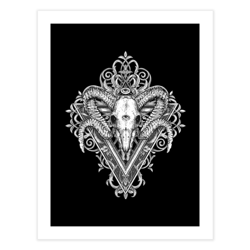 Ram Skull One Home Fine Art Print by HEXAD - Art and Apparel