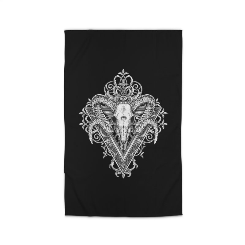 Ram Skull One Home Rug by HEXAD - Art and Apparel