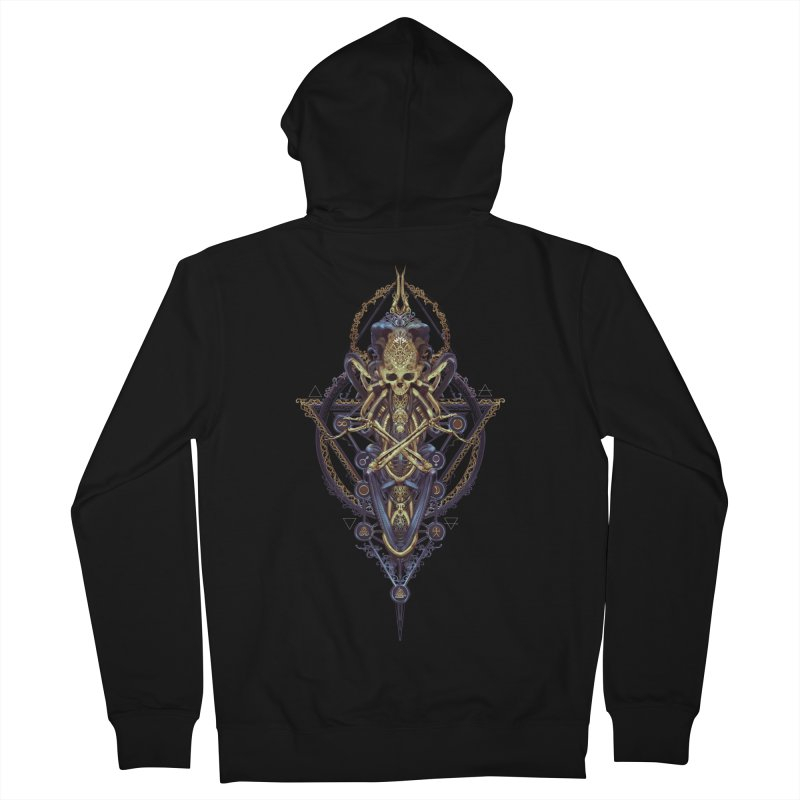 SYMBOLIC Bleu Edition Women's French Terry Zip-Up Hoody by HEXAD - Art and Apparel