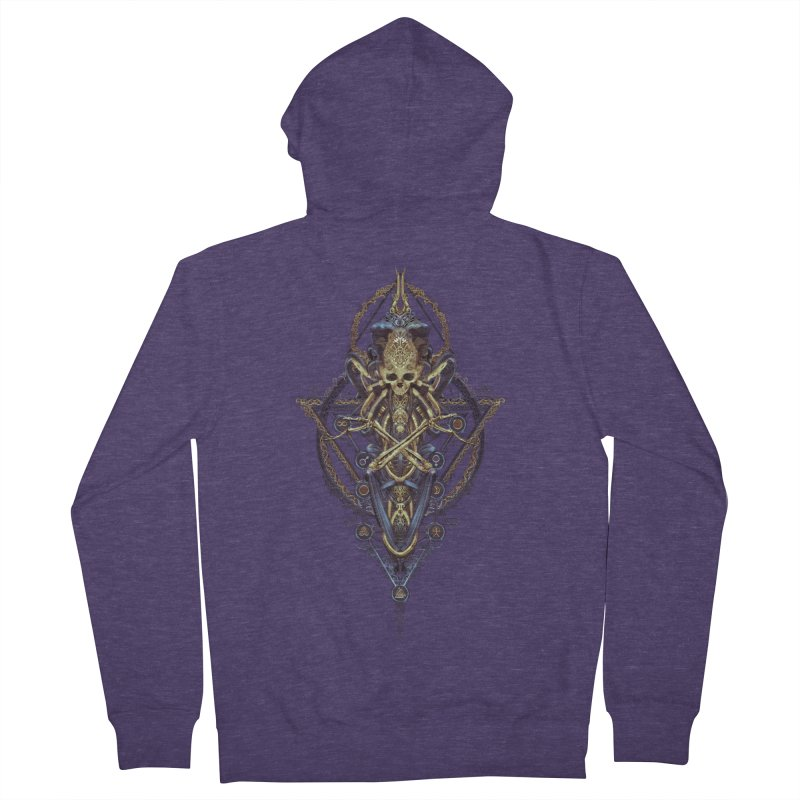 SYMBOLIC Bleu Edition Men's French Terry Zip-Up Hoody by HEXAD - Art and Apparel