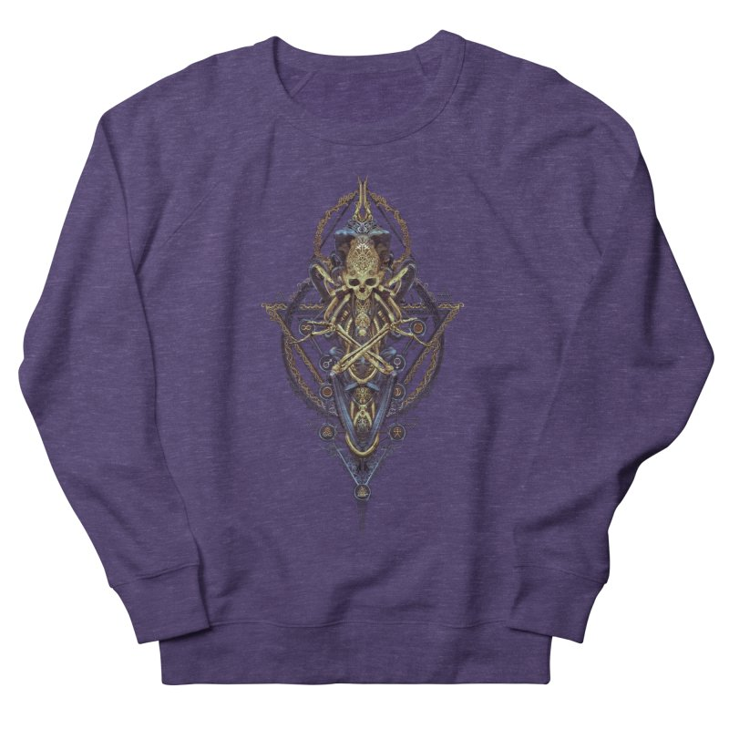 SYMBOLIC Bleu Edition Women's French Terry Sweatshirt by HEXAD - Art and Apparel
