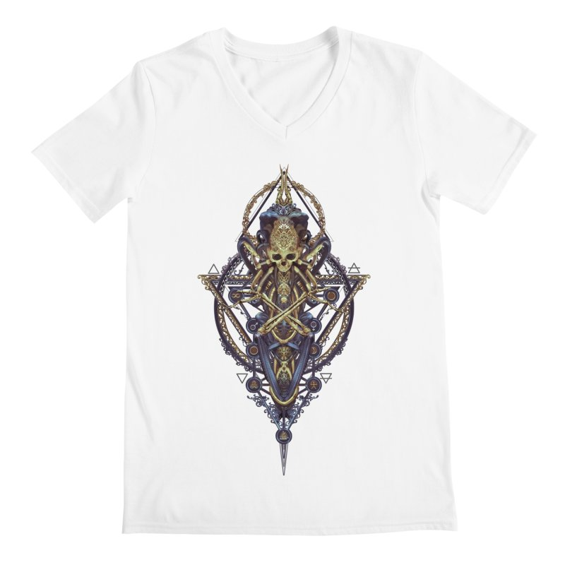 SYMBOLIC Bleu Edition Men's V-Neck by HEXAD - Art and Apparel