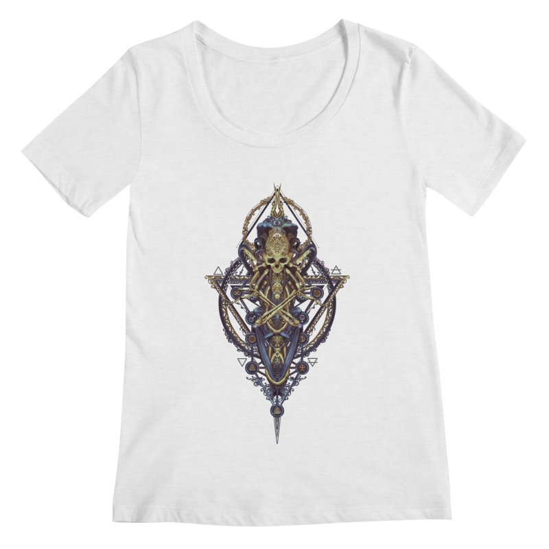 SYMBOLIC Bleu Edition Women's Scoop Neck by HEXAD - Art and Apparel
