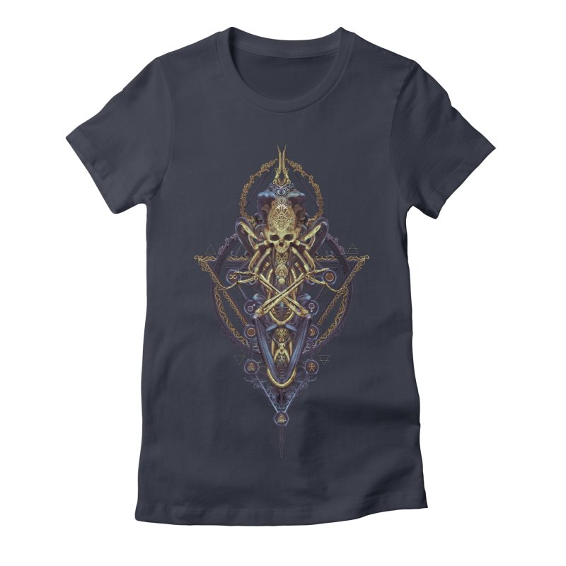 SYMBOLIC Bleu Edition Women's Fitted T-Shirt by HEXAD - Art and Apparel