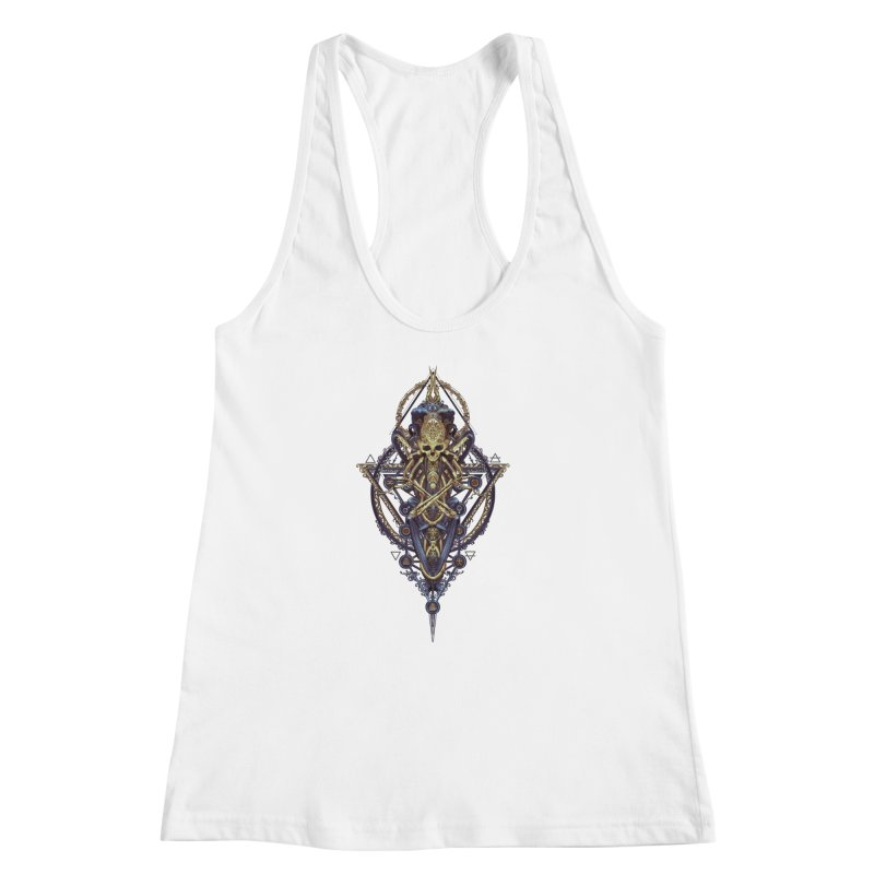 SYMBOLIC Bleu Edition Women's Racerback Tank by HEXAD - Art and Apparel