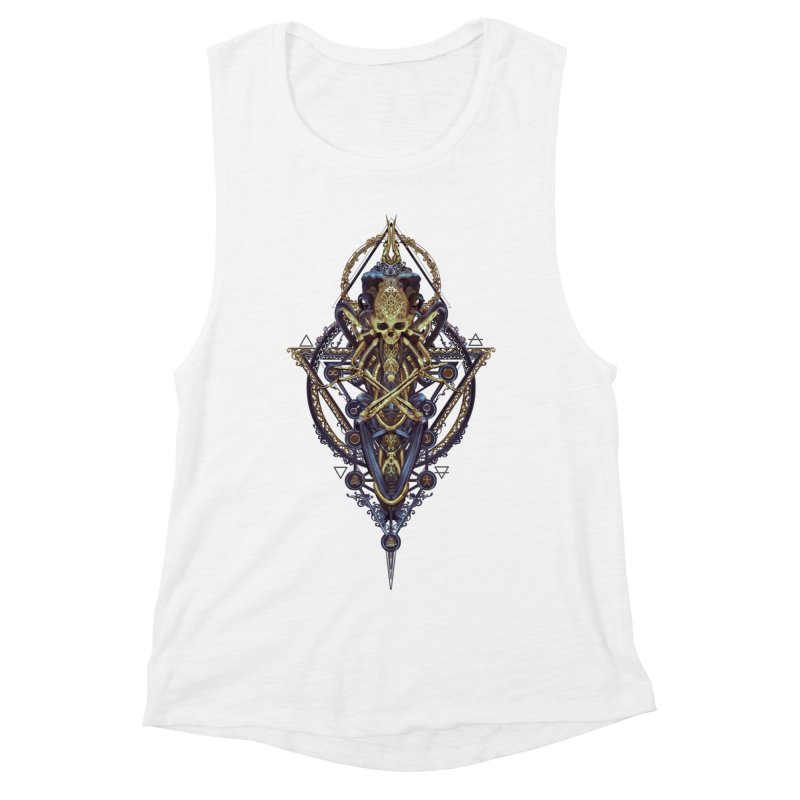 SYMBOLIC Bleu Edition Women's Muscle Tank by HEXAD - Art and Apparel