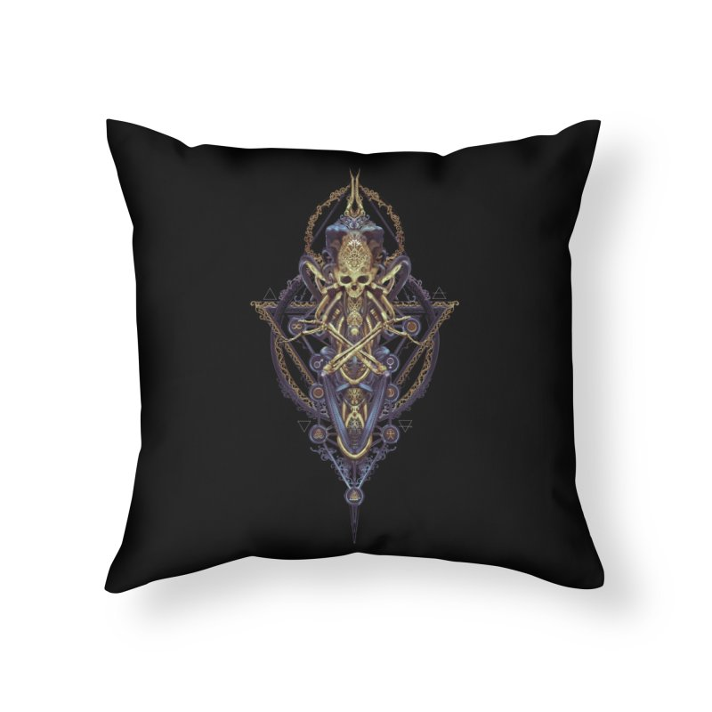 SYMBOLIC Bleu Edition Home Throw Pillow by HEXAD - Art and Apparel