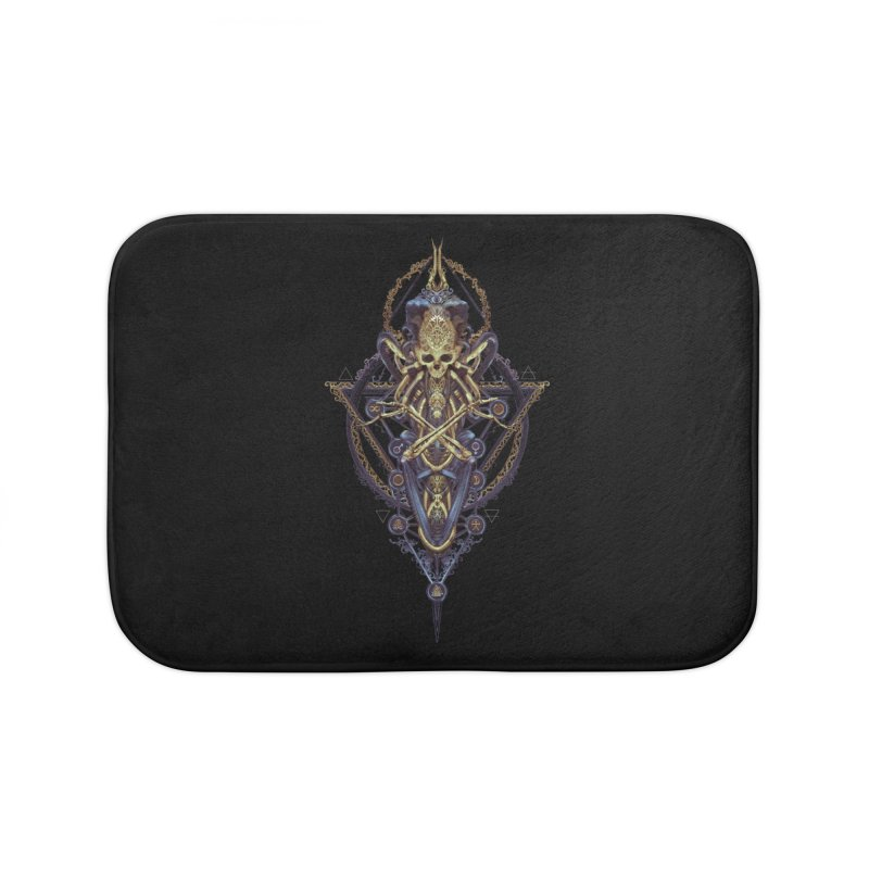 SYMBOLIC Bleu Edition Home Bath Mat by HEXAD - Art and Apparel