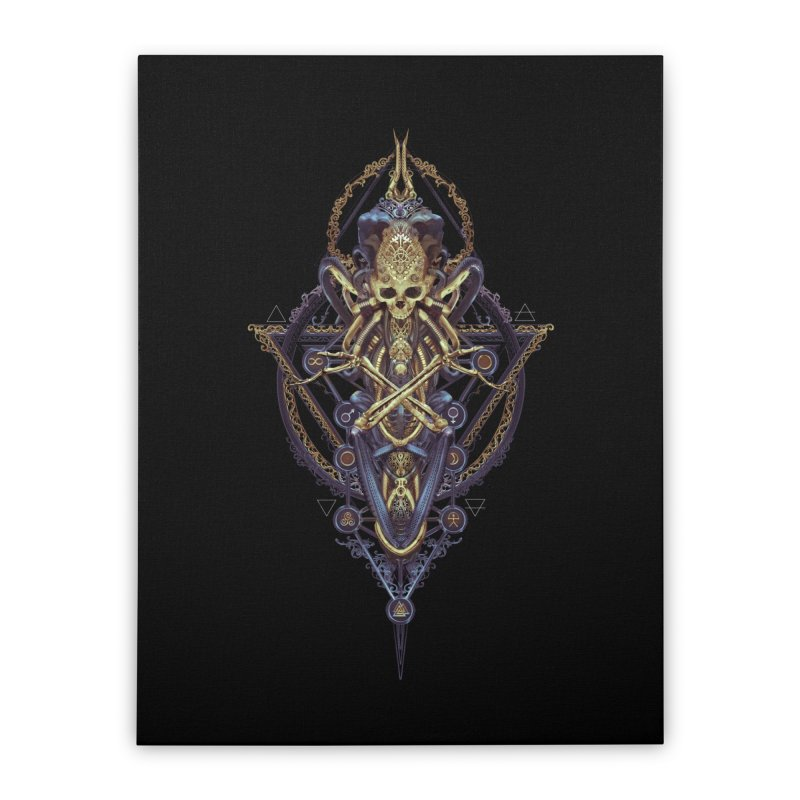 SYMBOLIC Bleu Edition Home Stretched Canvas by HEXAD - Art and Apparel