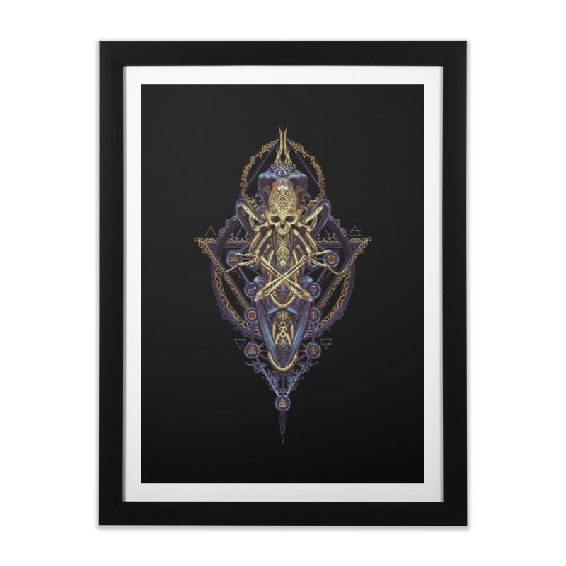 SYMBOLIC Bleu Edition Home Framed Fine Art Print by HEXAD - Art and Apparel