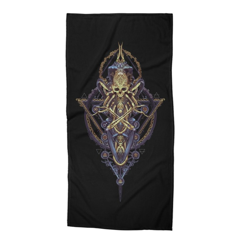 SYMBOLIC Bleu Edition Accessories Beach Towel by HEXAD - Art and Apparel