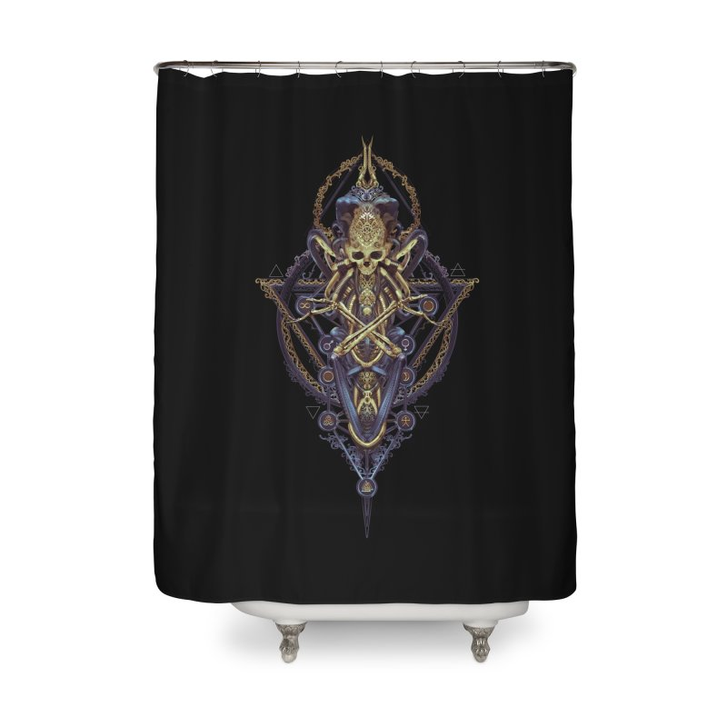 SYMBOLIC Bleu Edition Home Shower Curtain by HEXAD - Art and Apparel