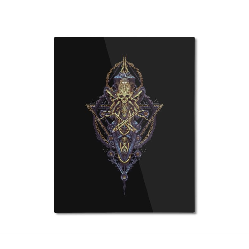 SYMBOLIC Bleu Edition Home Mounted Aluminum Print by HEXAD - Art and Apparel