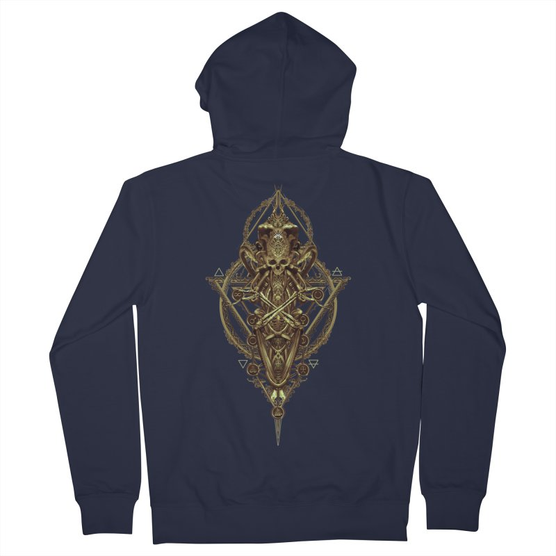 SYMBOLIC - Gold Edition Women's French Terry Zip-Up Hoody by HEXAD - Art and Apparel