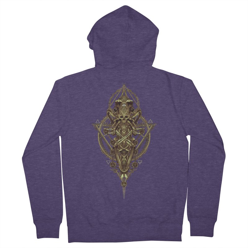SYMBOLIC - Gold Edition Men's French Terry Zip-Up Hoody by HEXAD - Art and Apparel
