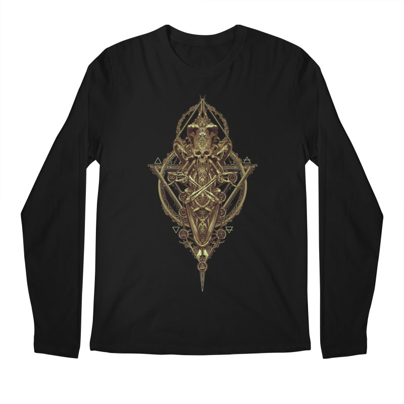 SYMBOLIC - Gold Edition Men's Regular Longsleeve T-Shirt by HEXAD - Art and Apparel