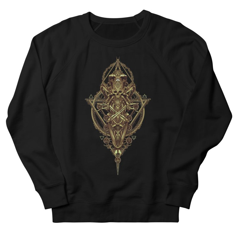 SYMBOLIC - Gold Edition Men's French Terry Sweatshirt by HEXAD - Art and Apparel