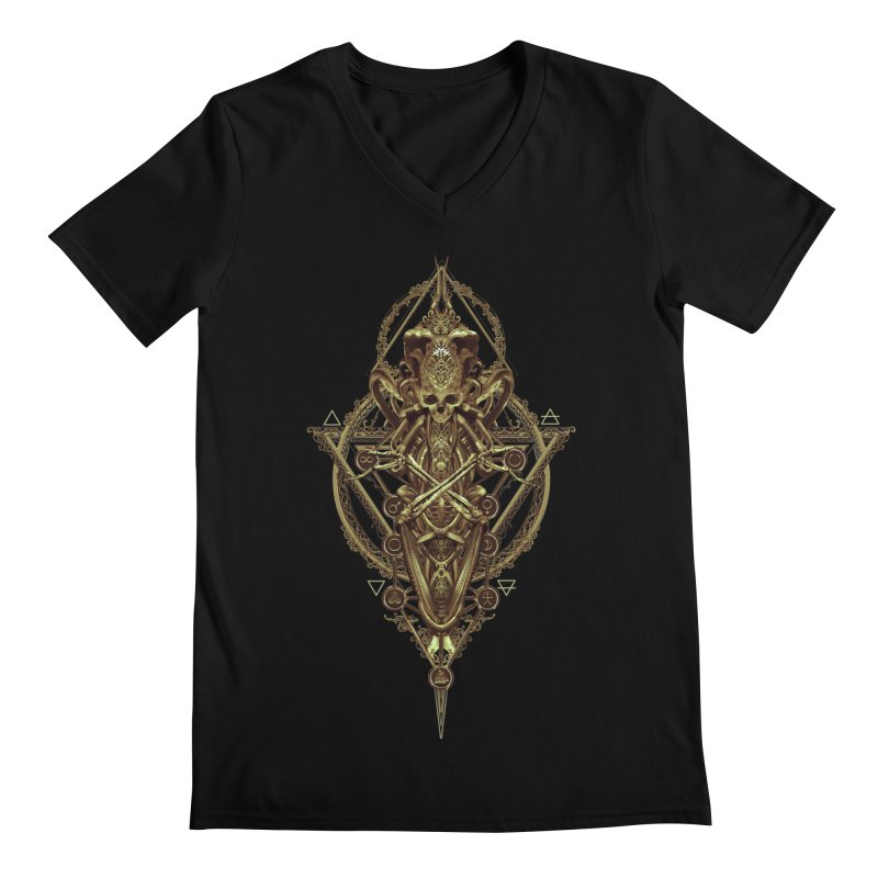 SYMBOLIC - Gold Edition Men's V-Neck by HEXAD - Art and Apparel