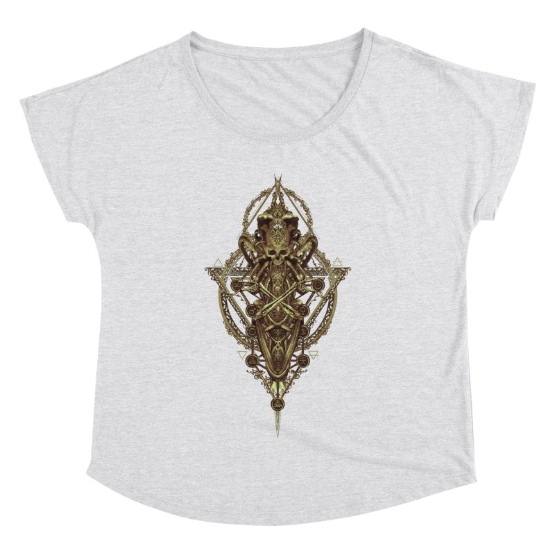 SYMBOLIC - Gold Edition Women's Dolman Scoop Neck by HEXAD - Art and Apparel