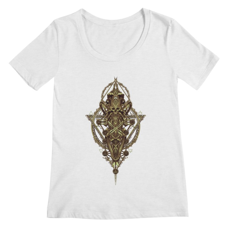 SYMBOLIC - Gold Edition Women's Scoop Neck by HEXAD - Art and Apparel