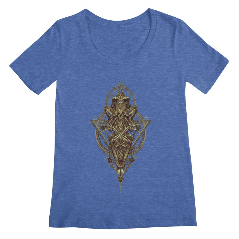 SYMBOLIC - Gold Edition Women's Regular Scoop Neck by HEXAD - Art and Apparel