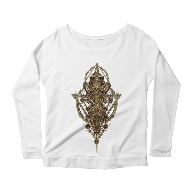 SYMBOLIC - Gold Edition Women's Scoop Neck Longsleeve T-Shirt by HEXAD - Art and Apparel