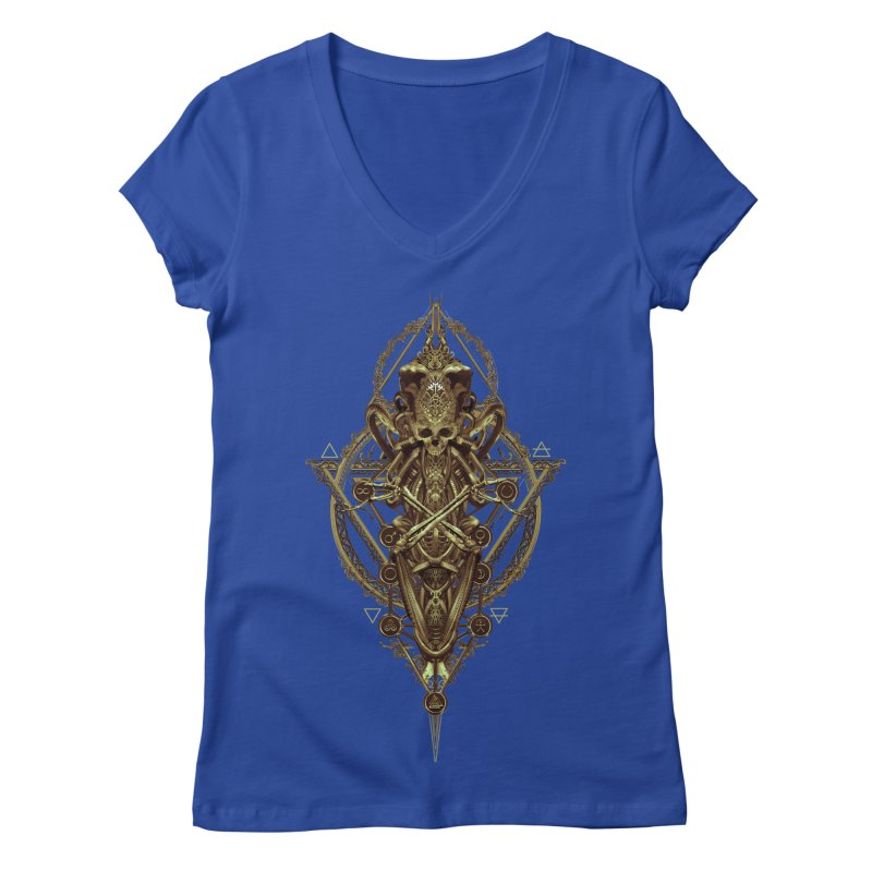 SYMBOLIC - Gold Edition Women's Regular V-Neck by HEXAD - Art and Apparel