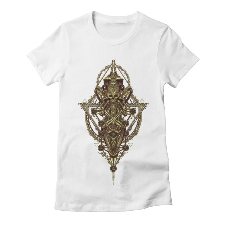 SYMBOLIC - Gold Edition Women's Fitted T-Shirt by HEXAD - Art and Apparel