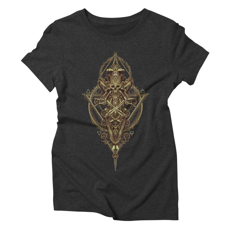 SYMBOLIC - Gold Edition Women's Triblend T-Shirt by HEXAD - Art and Apparel