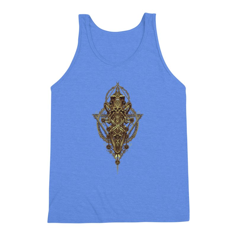SYMBOLIC - Gold Edition Men's Triblend Tank by HEXAD - Art and Apparel