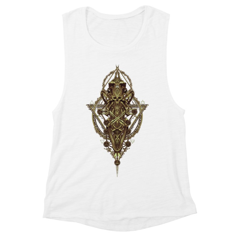 SYMBOLIC - Gold Edition Women's Muscle Tank by HEXAD - Art and Apparel