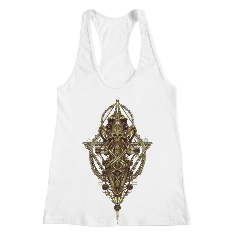 SYMBOLIC - Gold Edition Women's Racerback Tank by HEXAD - Art and Apparel