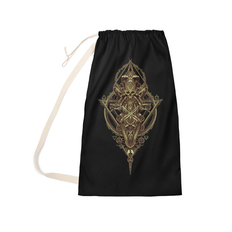 SYMBOLIC - Gold Edition Accessories Laundry Bag Bag by HEXAD - Art and Apparel