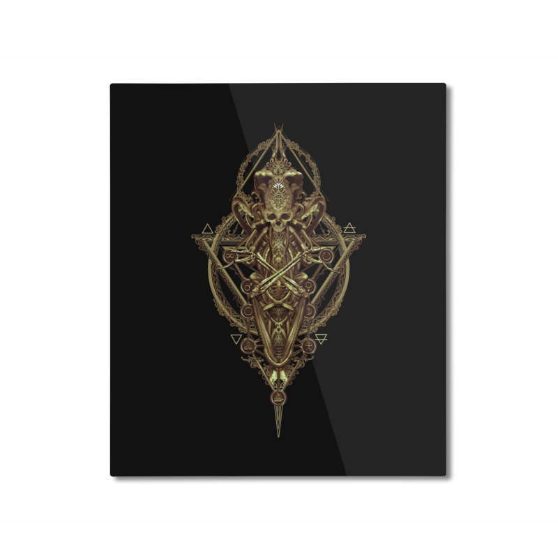 SYMBOLIC - Gold Edition Home Mounted Aluminum Print by HEXAD - Art and Apparel