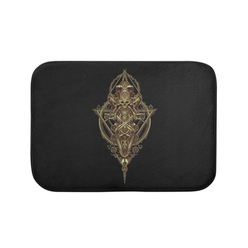 SYMBOLIC - Gold Edition Home Bath Mat by HEXAD - Art and Apparel