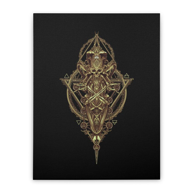 SYMBOLIC - Gold Edition Home Stretched Canvas by HEXAD - Art and Apparel