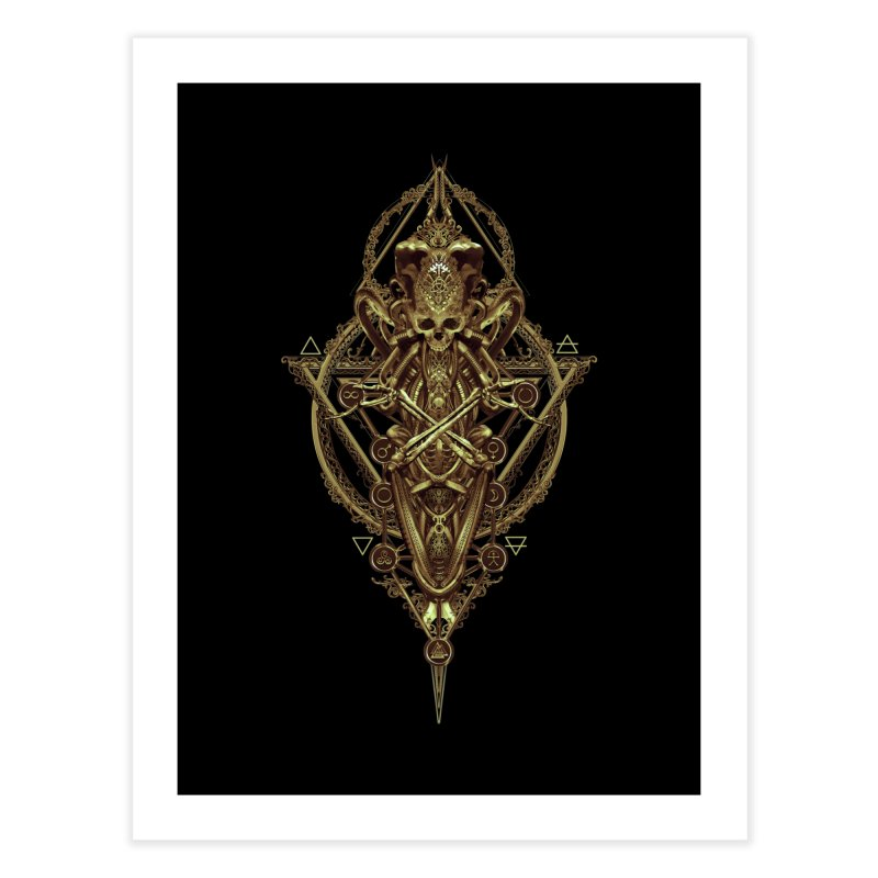 SYMBOLIC - Gold Edition Home Fine Art Print by HEXAD - Art and Apparel