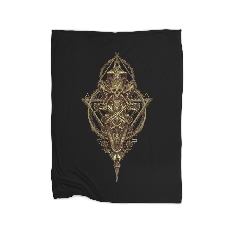 SYMBOLIC - Gold Edition Home Blanket by HEXAD - Art and Apparel