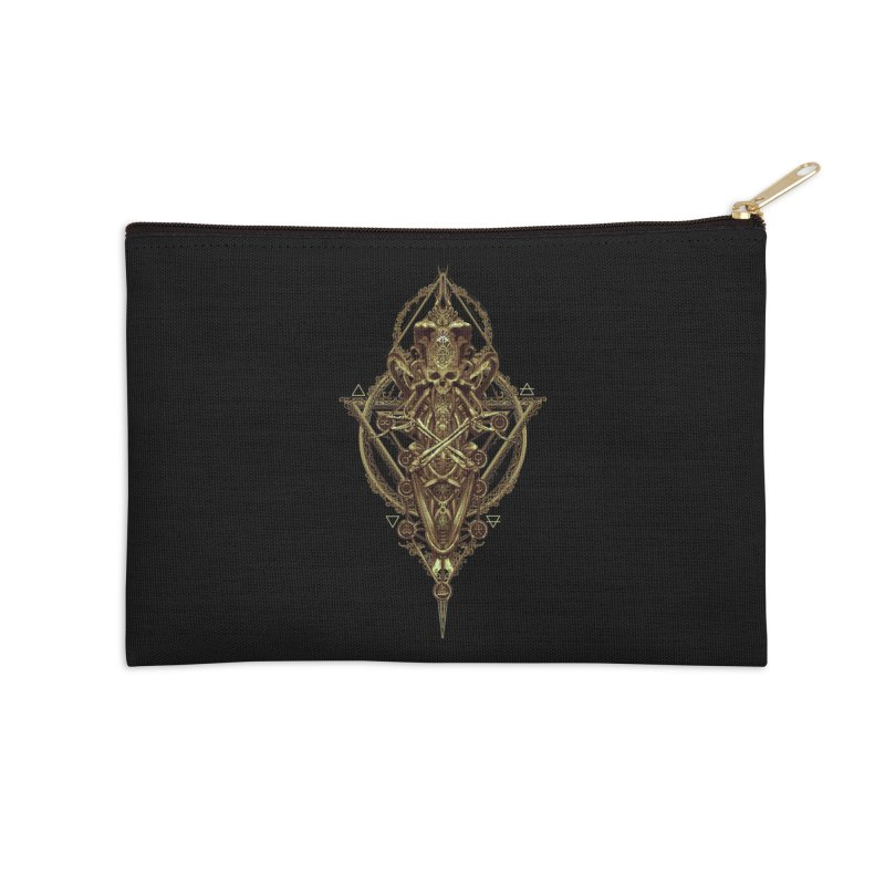 SYMBOLIC - Gold Edition Accessories Zip Pouch by HEXAD - Art and Apparel