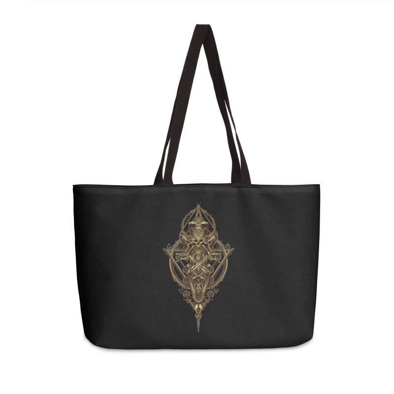 SYMBOLIC - Gold Edition Accessories Weekender Bag Bag by HEXAD - Art and Apparel